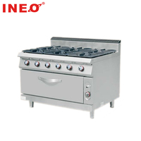 Commercial Cooking Equipment 6 Burner Gas Stove Cooker