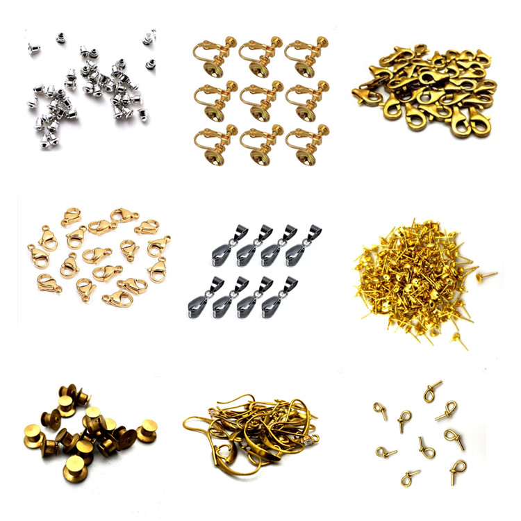 Factory price Iron gold Clip Bail Bead Pendant Connector Jewelry Findings Rhodium Plated