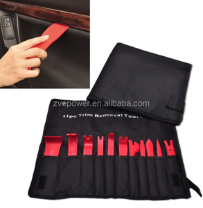 11Pcs/set Car Plastic Trim Removal Tool Audio Door Panel Open Molding Set Kit Pouch Pry Tool Auto Interior Hand Tools New