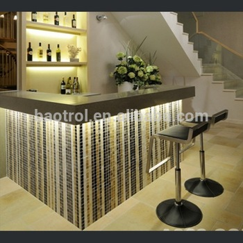 Fantastic Modern Home LED Wine Bar Design With Back Wall Design