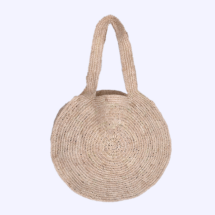 Wholesale Beautiful Round Summer Handmade Beach Straw <strong>Handbag</strong>