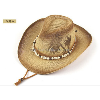 Top Quality Summer Sombreros Hat Bulk Straw Cowboy Hats Mens Straw