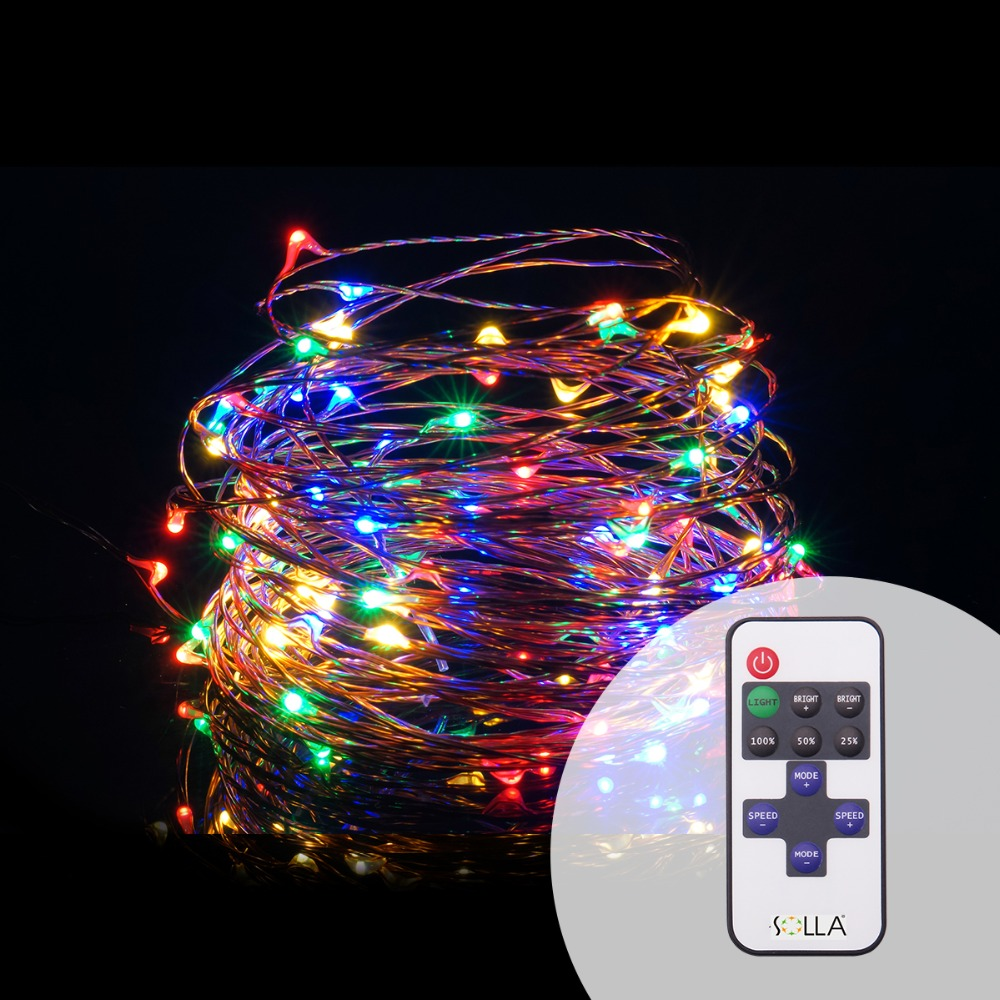 Indoor Outdoor 10M 33FT 100 Led USB Christmas Copper Wire