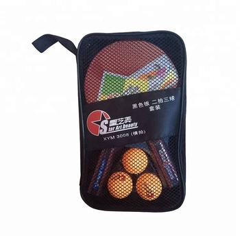 3 Star Black Board Sponge High Quality Ping Pong Bats Paddle Table Tennis Rackets Paddle Set With Balls