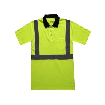 Factory supply geel reflecterende polo shirt