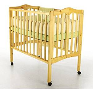 Dream On Me 2 In 1 Lightweight Portable Folding Crib, Natural /Model
