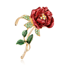 Fashionable Latest Design Zinc Alloy Oil Drip Flower Metal Brooches