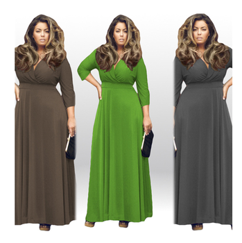 lx10168a hot selling plus size long dress pure color fancy fat women  dresses, View plus size dress, others Product Details from Anhui Lunxiu  Trade ...