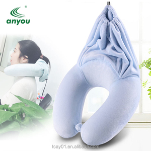 Amazon Airplane Sleeping Soft Fleece Neck Support Scarf Travel Pillow Chin Support Scarf Travel Neck Pillow