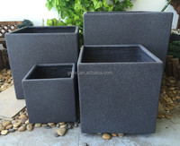 HOT SALE new design outdoor fiber clay flower pot flower plants