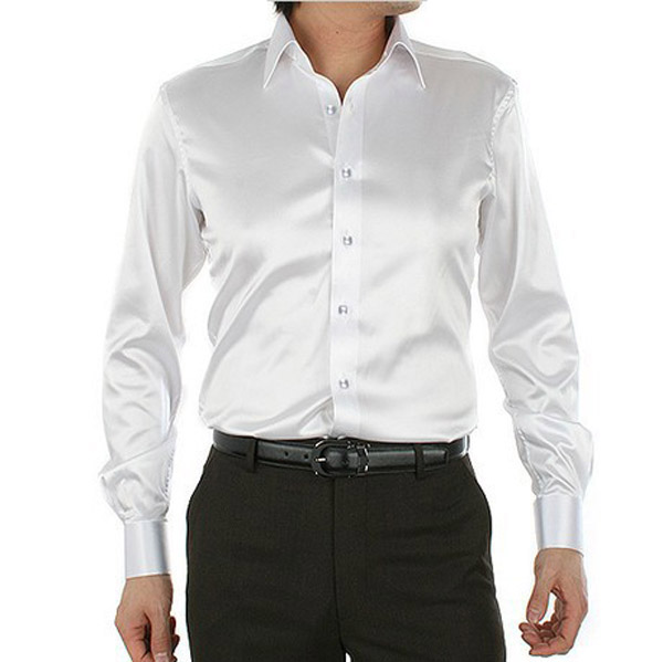 Mens silk high collar embroidered dress shirt buy for Mens high collar dress shirts