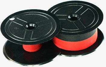 NEW TWO-SPOOL UNIVERSAL PRINTING CALCULATOR RIBBONS (C-WIND); SUPERIOR BLACK AND RED REPLACEMENT RIBBON FOR NUKOTE BR80C, PORELON PR-511, PORELON 11216, DATAPRODUCTS R3027, BR80C ((1) 3-PACK)