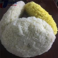 Plastic cheap 8 inch wool sheepskin buffing pad with low price