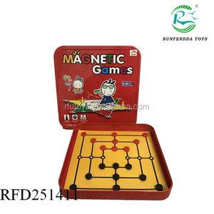 High quality plastic magnetic game 5 in 1 chess set