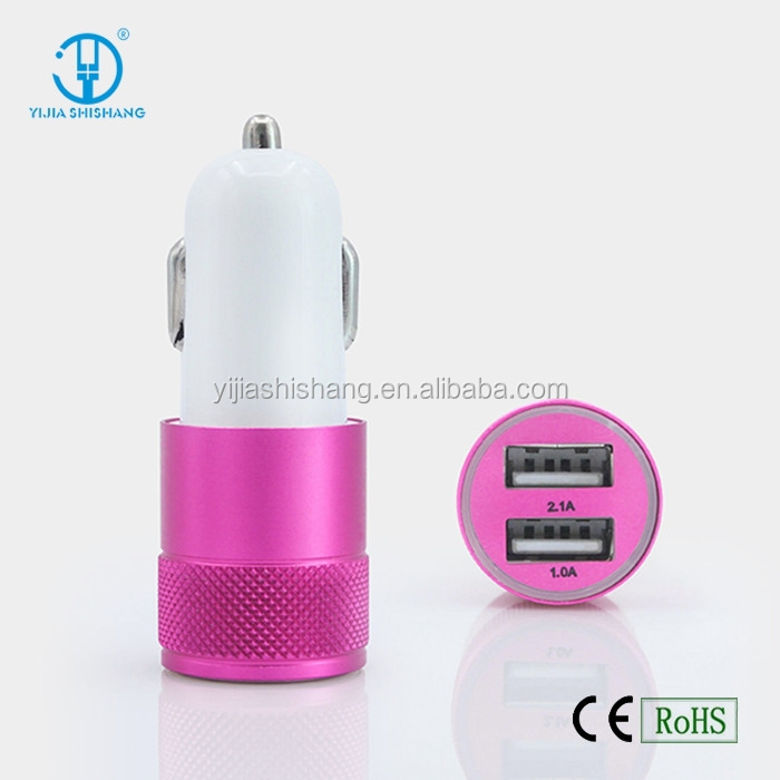 high speed mobile phone car charger, dual usb in-car phone charger