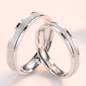 Wholesale Simple Dull Polished Wedding Rings Jewelry S925 Sterling