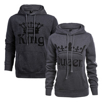 Autumn winter hot sale women's letter printing hoodies fleece long-sleeved hooded couple sweater