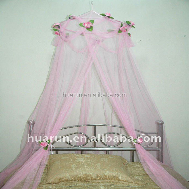 Lovely Cotton Baby Crib Nets/mosquito Nets Anti Mosquito Princess Canopy Bed Valance Kids Room Decoration Baby Bed Round Tent Curtains Crib Netting Baby Bedding