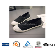 new arrive uk fashion model business casual ankle cut out comfortable cotton link women black plimsolls loafer shoes