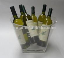 2012 new clear plastic champagne cooler
