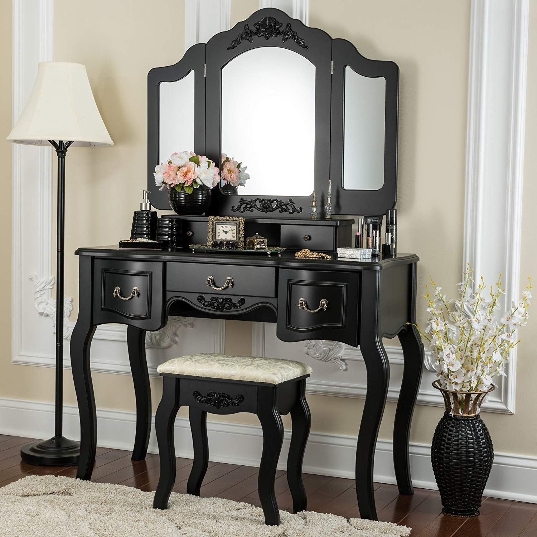 Buy Fineboard CFB-VT04-BK Vanity Beauty Station Makeup ...