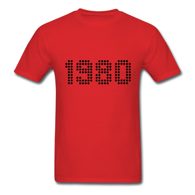 O-Neck Men Tshirt 1980 Make Your Own Regular Style T Shirts for Men