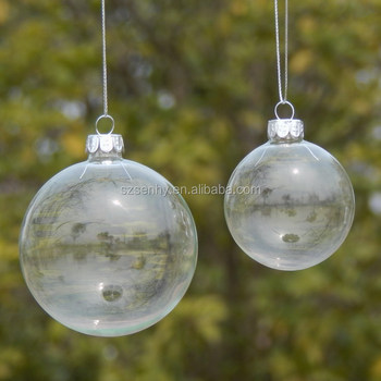 100mm Wholesale Clear Glass Christmas Ball Ornaments - 100mm Wholesale Clear Glass Christmas Ball Ornaments - Buy 100mm