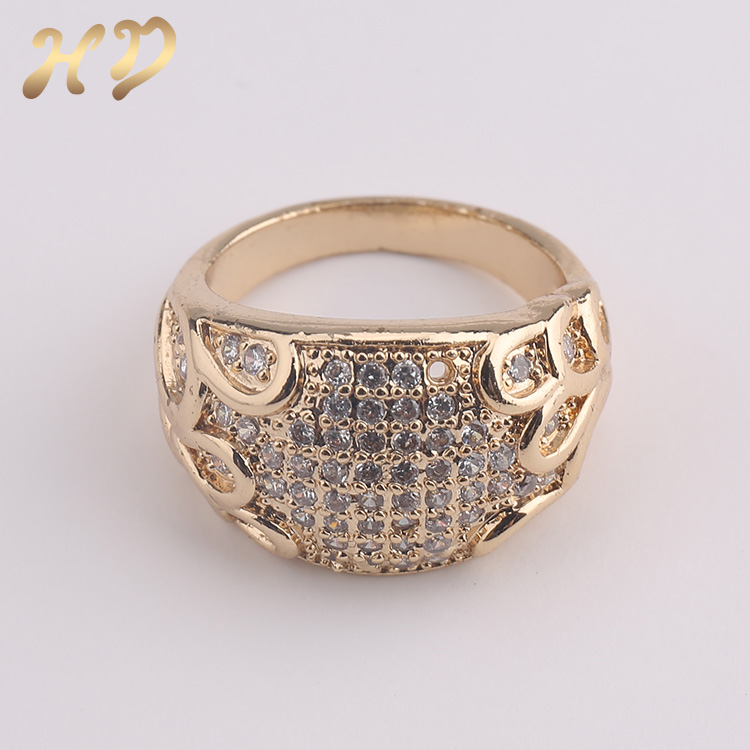 2018 Latest Design Ladies Daily Wear 18k Gold Plated Rings - Buy ...
