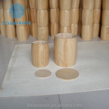 Whole Sale Wooden Grain Storage Barrels With Lidscustomized Wooden
