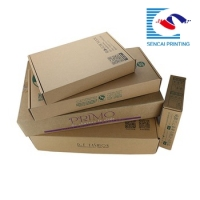 Free design Custom wholesale postal E flute kraft paper mail box for gift shipping
