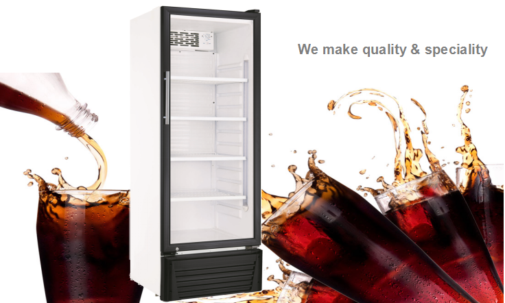 115L Factory Price Glass Door Electric Can Cooler For Drink Display
