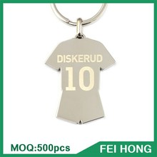 Best Factory Price Digital Printing Soccer Jersey Shirt Keychain Football Gift items for Men
