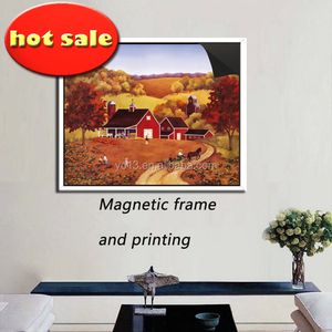 wall decoration post use magnetic picture frame & print magnetic painting 1013-118