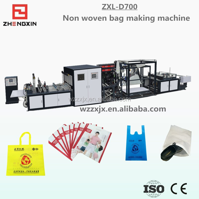 2016 good non woven Flat bag making machine price with Online Handle Attaching