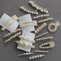 korean trend pearl style Hair Accessories Hair Clips for Girls