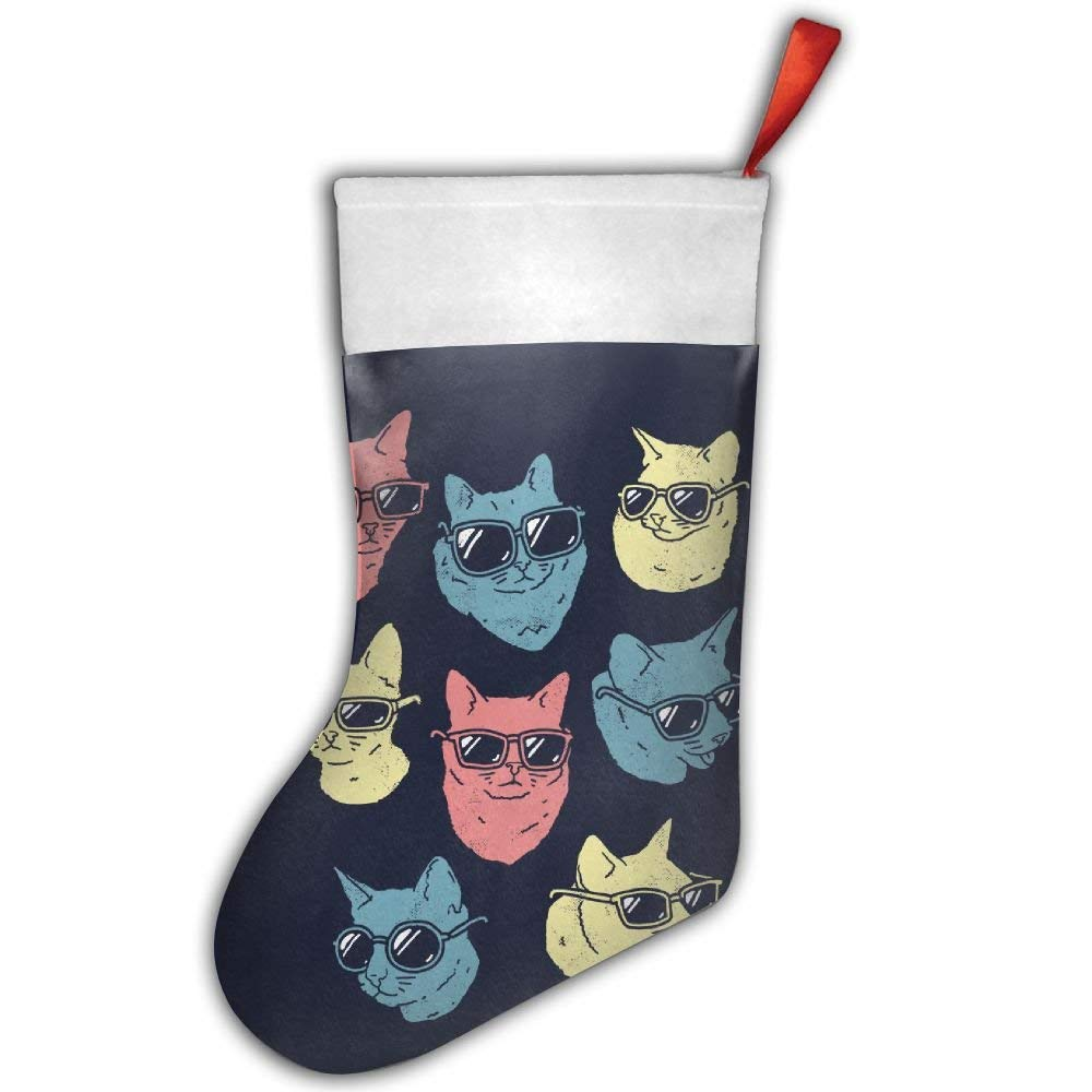 get quotations cool cats with sunglasses christmas hanging stockingassorted santa gift socks hanging accessories for xmas