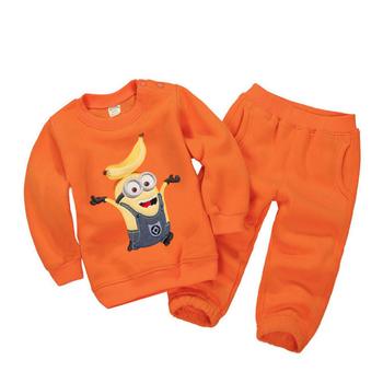 2018 Autumn Baby Boy Clothing Sets Girls Children Minions Cashmere