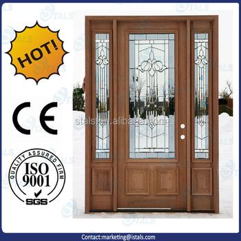 Latest Design Wooden Double Door Designs Entrance Glass Door