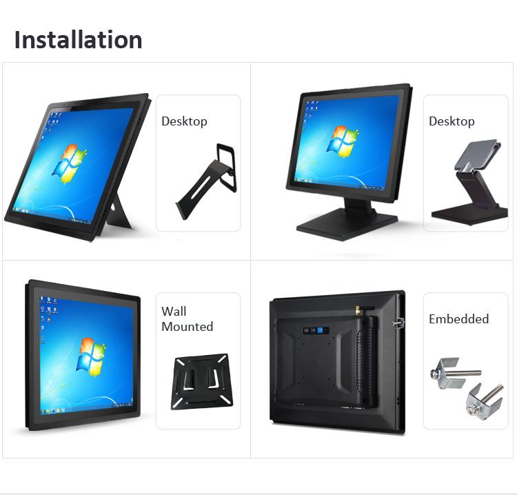 """10,4 """"panel PC WIN7 de la tableta de la pantalla táctil de kiosco de la industria informática pantalla lcd pantalla mini PC todo en uno Incrustar vesa quad core"""