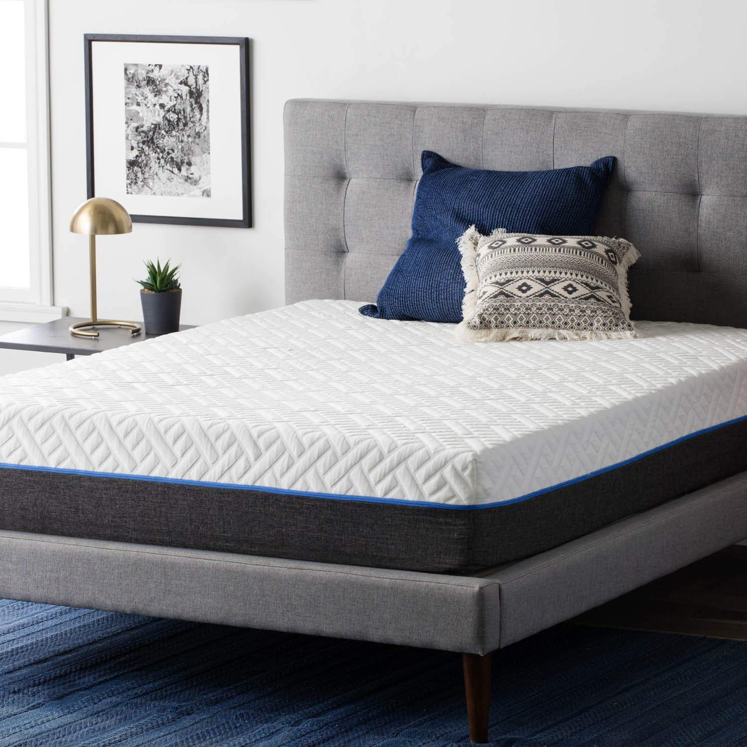Heat Dissipating Breathable 11 Inch Gel Memory Foam and Individually Wrapped Steel Coils Innerspring Hybrid Design Mattress, Optimal Comfort and Support, Dust Mite Resistant + Expert Guide