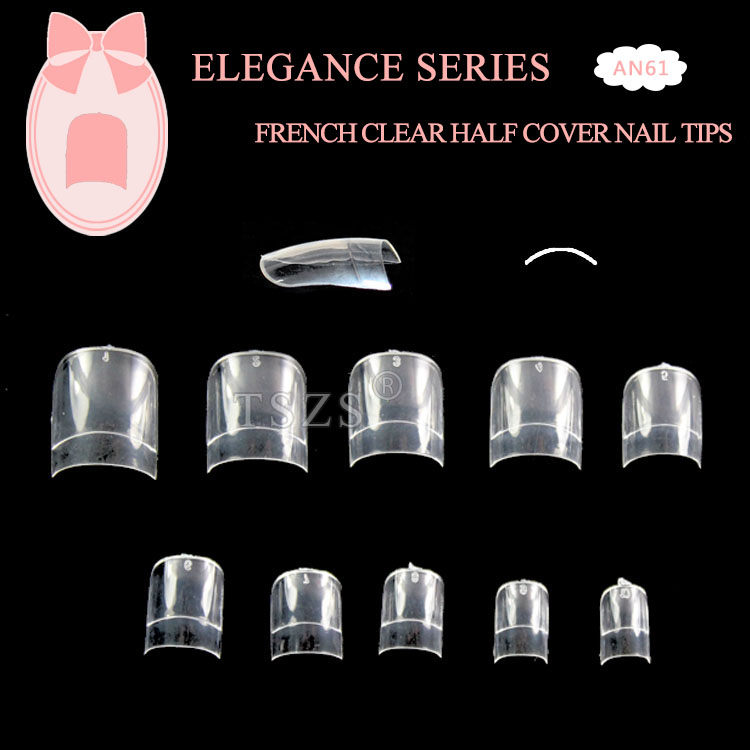 Tszs Short Custom Fake Clear French Edge Artificial Nail Tip - Buy ...