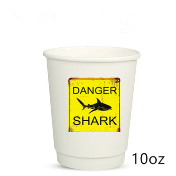 10 Oz Disposable Coffee Cups 12 White Paper With