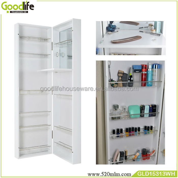 Door Ganging Or Wall Mounted Makeup Storage Cabinet With Dressing Mirror