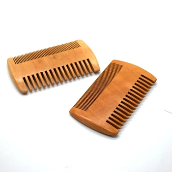 wooden hair comb custom personalized beard comb
