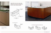 Classical Reception Desk Office Furnitures