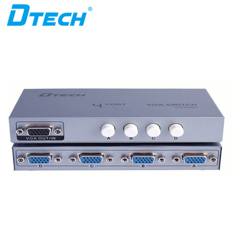 Dtech HD 250MHz 1920 × 1440 4 入力 1 出力ビデオ VGA スイッチ 4 × 1