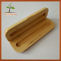 Factory Direct Sale Log Gift Pen Boxes Custom Logo Wooden Pen Box Cheap
