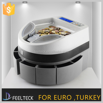 Automatic Digital Electronic Bank Coin Counting Sorter Machine Commercial Euro Electric Change Sorting Counter