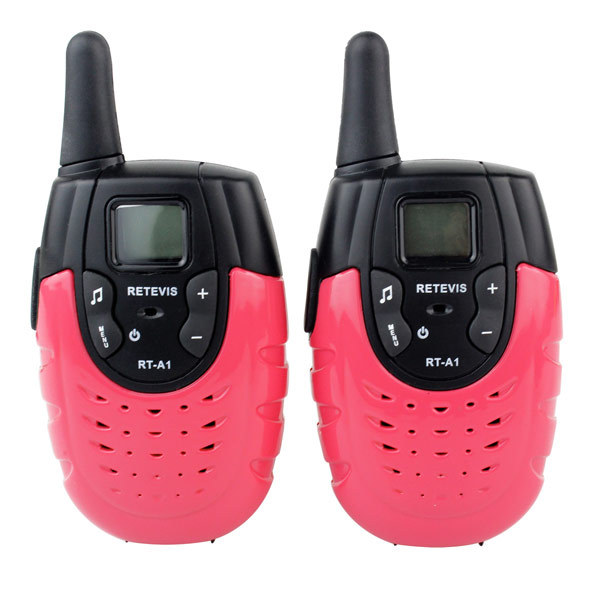 2pcs New Red Walkie Talkie pairs Retevis RT-A1 UHF 462-467 VOX 22CH Monitor 1W Scan VOX Monitor CTCSS Two Way Radio A9102C