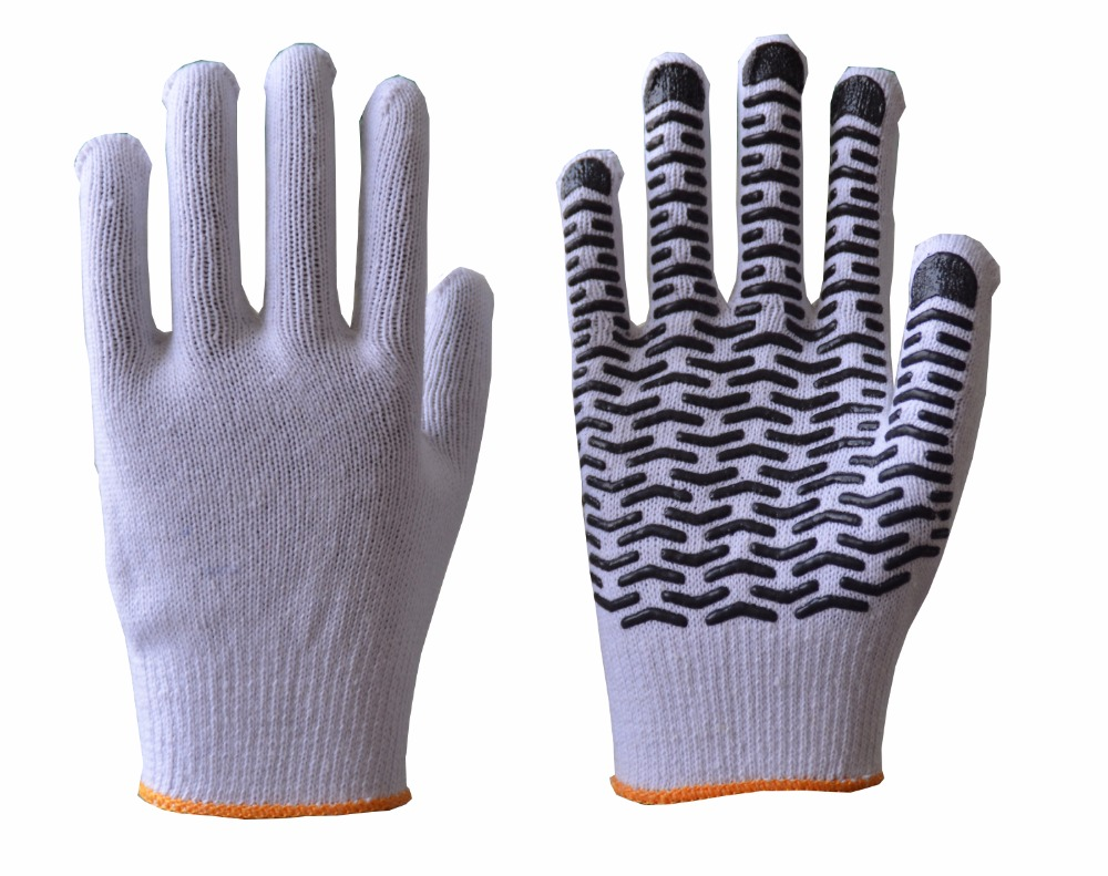LUJIANG high quality PVC Dotted Gloves Hot Sell Point Plastic Gloves